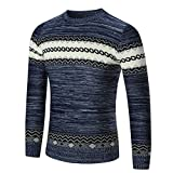 Hot,Yang-Yi 2017 Men's Autumn Winter Sweater Pullover Slim Jumper Knitwear Outwear (Navy, S)