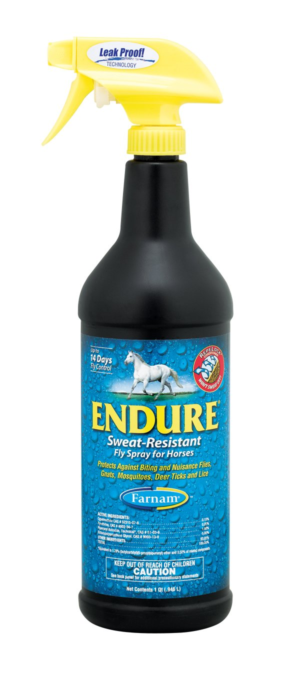 Farnam Endure Sweat-Resistant Fly Spray for Horses, 32 fl. Oz.