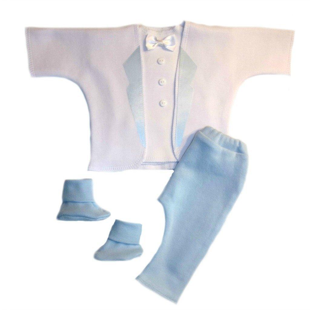 Jacqui's Baby Boys' Dashing White and Blue Tuxedo Suit