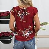 Sontefz Women's Casual Floral Print Short Sleeve