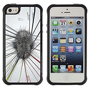 Be-Star único patrón Impacto Shock - Absorción y Anti-Arañazos Funda Carcasa Case Bumper Para Apple iPhone 5C ( Abstract Mind Map White Grey Stress )