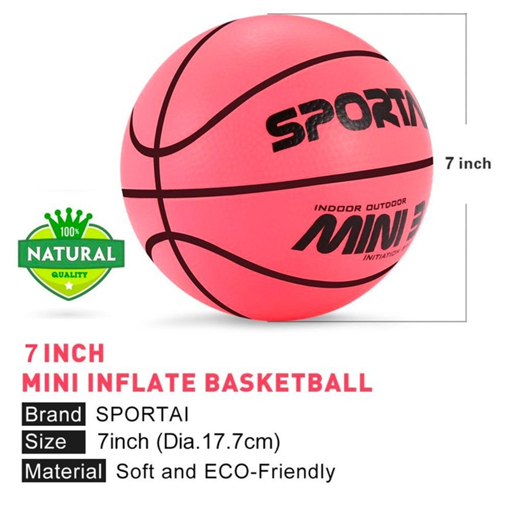 Small Pink Light Mini Basketball for Kids Indoor Basketball Game Kid's Toy in Playground or Pool from FunHut - 5 inch…