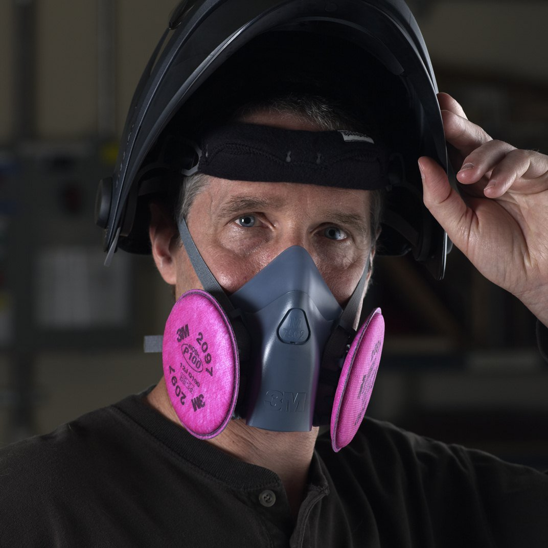3M Particulate Filter 2097/07184(AAD), P100 Respiratory Protection, with Nuisance Level Organic Vapor Relief (50 Pairs) by 3M Personal Protective Equipment (Image #5)