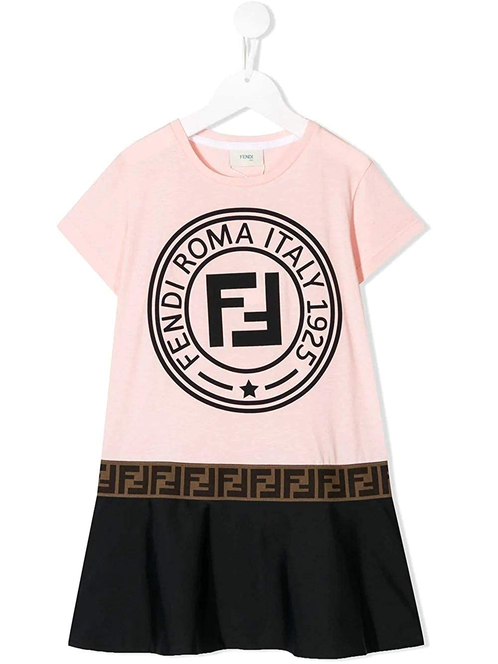 Fendi Fille JFB2827AJF0GCC Rose Coton Robe