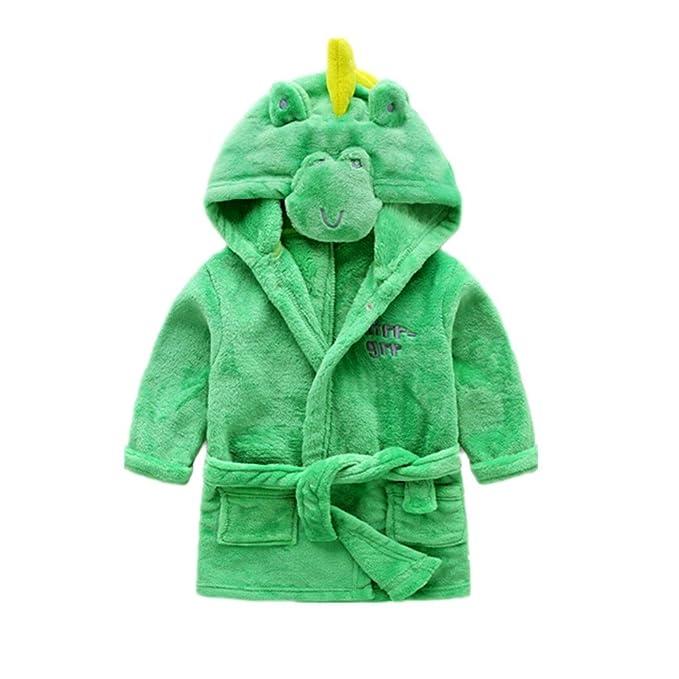 Albornoz Infantil Bata de Bano Franela Pijama con Capucha Toalla Disfraz Animal: Amazon.es: Ropa y accesorios