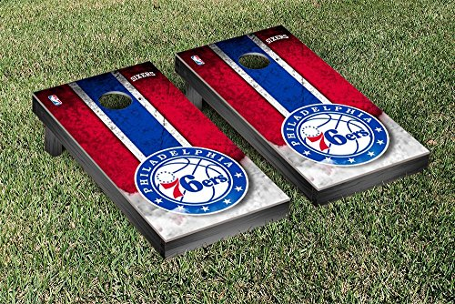 Philadelphia Sixers 76ers NBA Basketball Cornhole Game Set Vintage Version by Victory Tailgate
