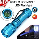 Clearance Tactical 6000LM CREE Q5 AA/14500 3 Modes Zoomable LED Flashlight Super Bright Military Grade Torch Lamp Light Outdoor