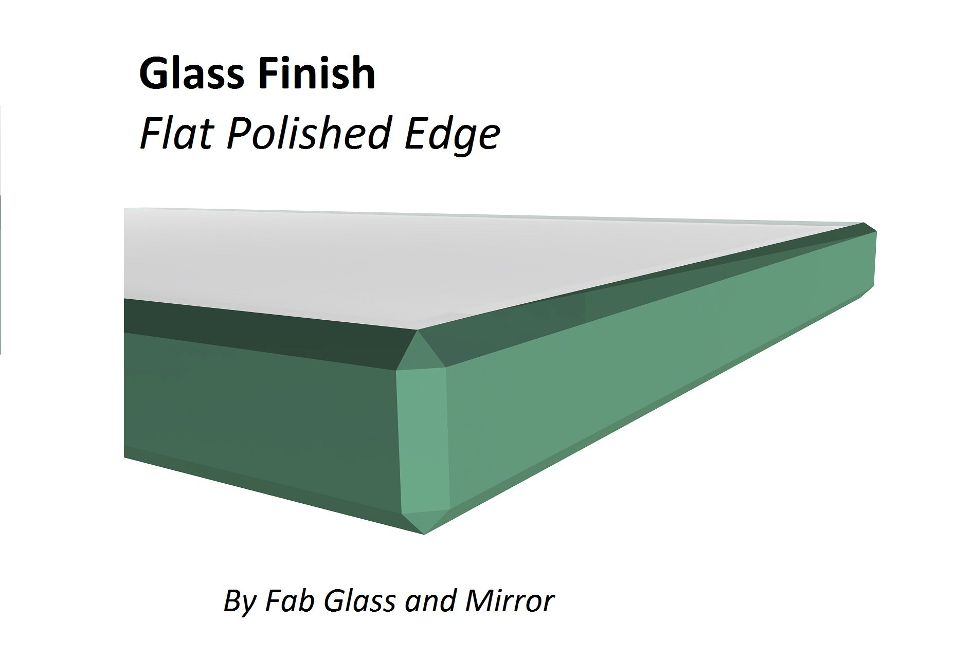 Fab Glass and Mirror 20SQR6THFLTE 20'' Inch Square 1/4'' Thick Flat Polish Tempered Eased Corners Glass Table Top 20 Inch Clear by Fab Glass and Mirror (Image #1)