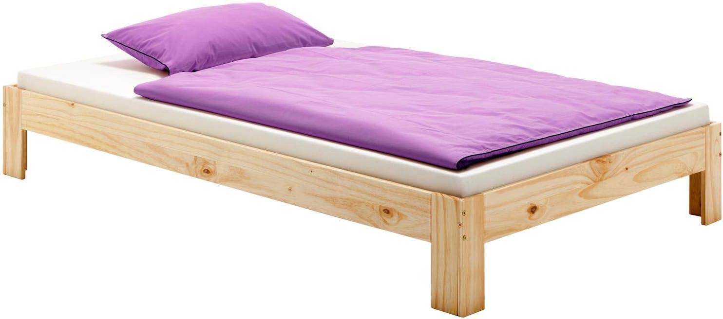 en pin Massif Vernis Naturel IDIMEX Lit futon Thomas Couchage Simple 90 x 200 cm 1 Place 1 Personne