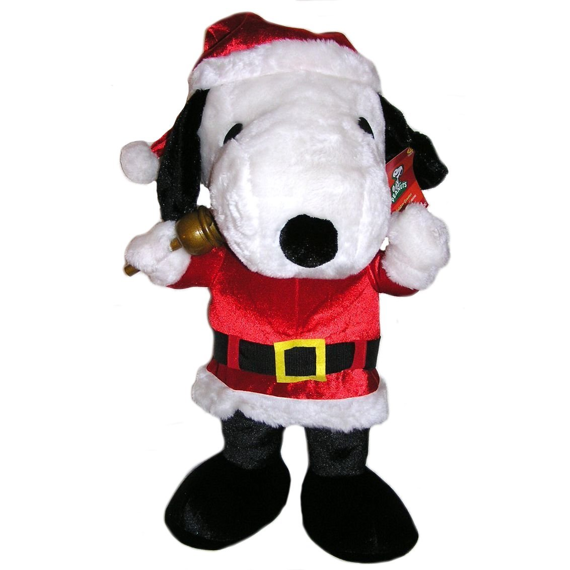 amazoncom peanuts large 24 plush snoopy christmas holiday greeter doll in santa suit toys games - Christmas Snoopy