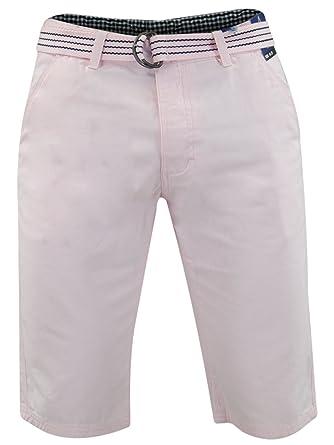6ec771a6da Mens Ryan Shorts Kushiro City Cotton Knee Length Chino Bottoms With Free  Woven Belt: Amazon.co.uk: Clothing