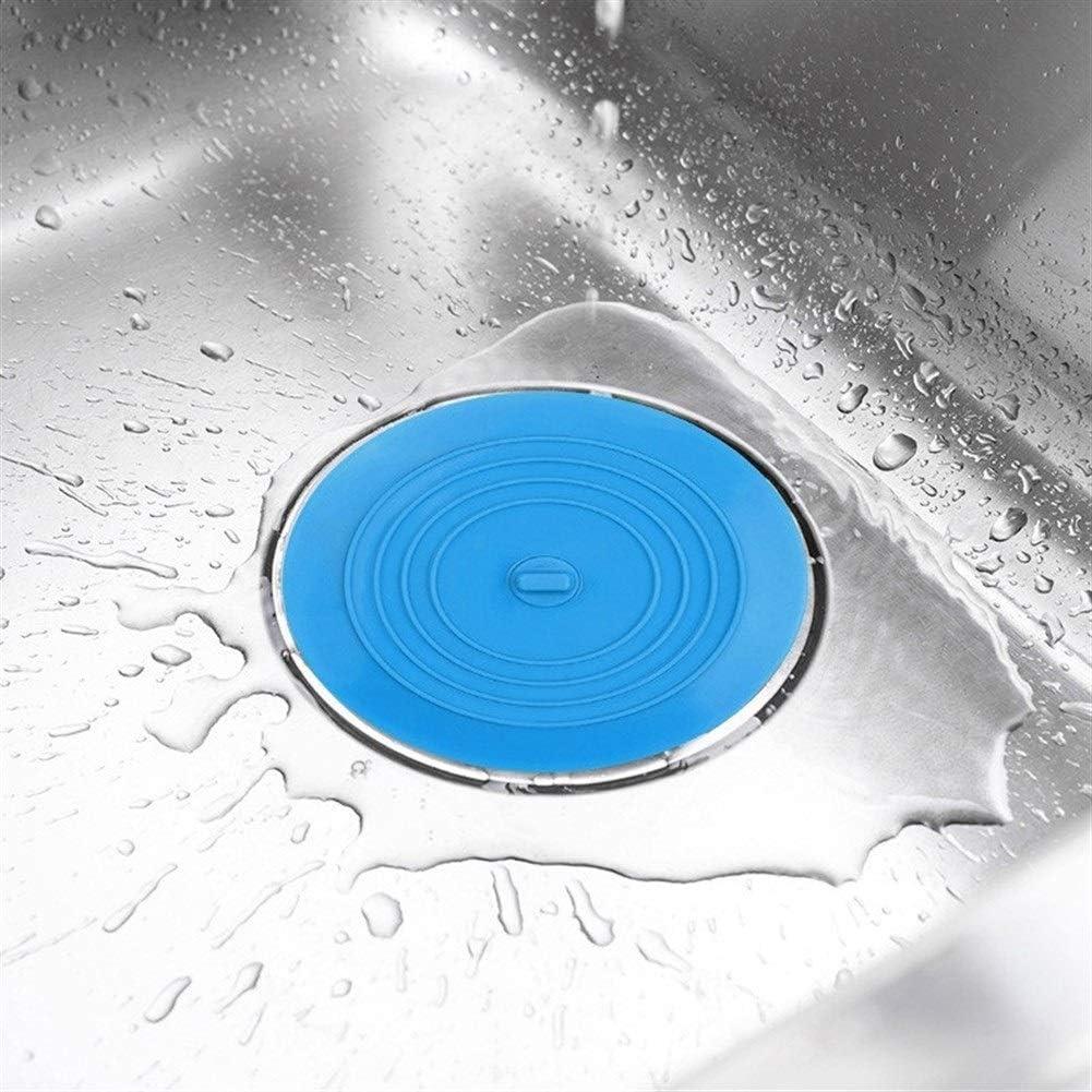 Qazon 1pcs Drain Plug Kitchen Silicone Drain Plug Hair Filter 15 cm Bathtub Stopper Sinks Hair Stopper Flat Color : Gray