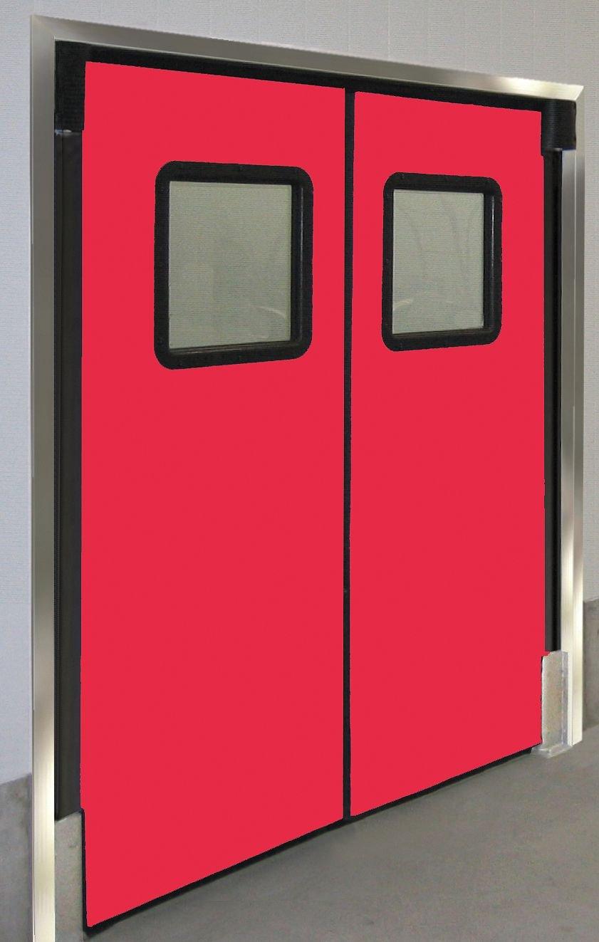 Red; Number of Doors: 2 6 ft.W x 8 ft.H 7296RDXHDRED Chase Doors Polyethylene Swinging Door