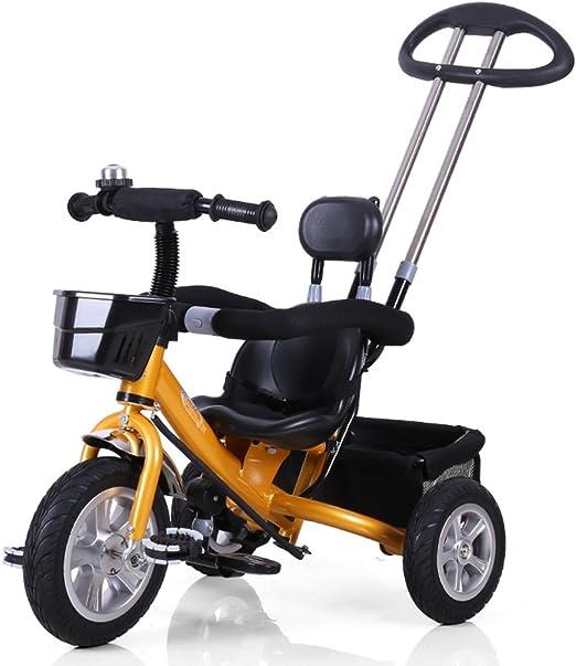 Guo shop- Niño triciclo mano empuje pequeño triciclo bicicleta ...