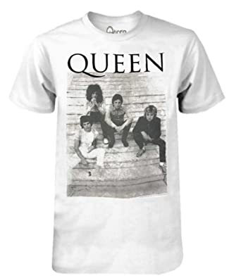 51312910e Queen Band on Stoop Unisex Logo Graphic Tee T-Shirt White/Black ...
