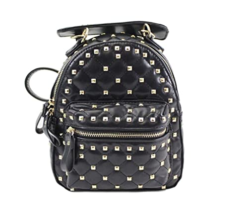 da39880241 LeahWard Women's Girl's MINI Studded Backpack Bags Kid's Cute Holiday  Rucksack 36 (Black)