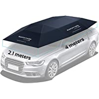 Promate Car Cover, Automatic Folded Umbrella Shelter 4 x 2.1 Meters with Remote Control, Portable Auto Protection Car…