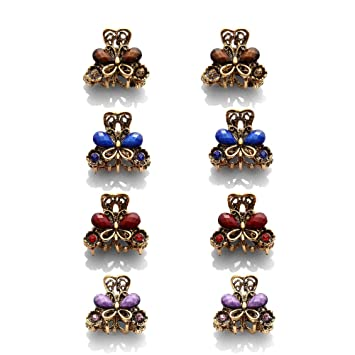 Butterfly Claw Crystal Rhinestone Hair Clip Clamp Hair Women Styling Supply