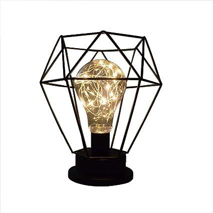 de Estilo de Mesa de Decorativa Lámpara Diamante Forma Retro 2IWEDH9Y