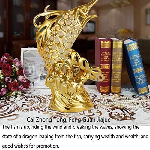 Adornos de Peces de la Suerte Artesanías de cerámica Adornos de Porcelana 5