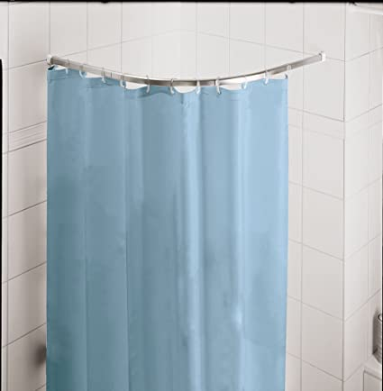 Kleine Wolke Round Rod Chrome Shower Curtain 90 X90 Cm