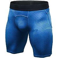 "LANBAOSI 6"" Underwear Training Shorts Compression Baselayer Fitness Tight Small Royal Blue"