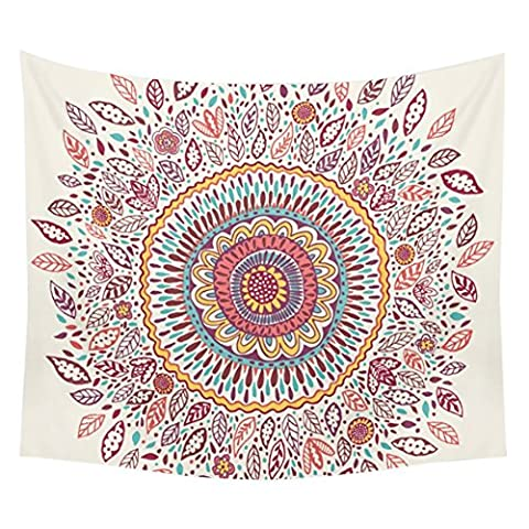Adarl Psychedelic Mandala Style Hanging Wall Tapestries Square Hippy Boho Gypsy Full-Polyester Tapestry Table Cover Bedspread Beach Towel Sunflower Tapestry - Floral Tapestry