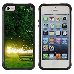 Pulsar Defender Series Tpu silicona Carcasa Funda Case para Apple iPhone 5 / iPhone 5S , Nature Beautiful Forrest Green 167