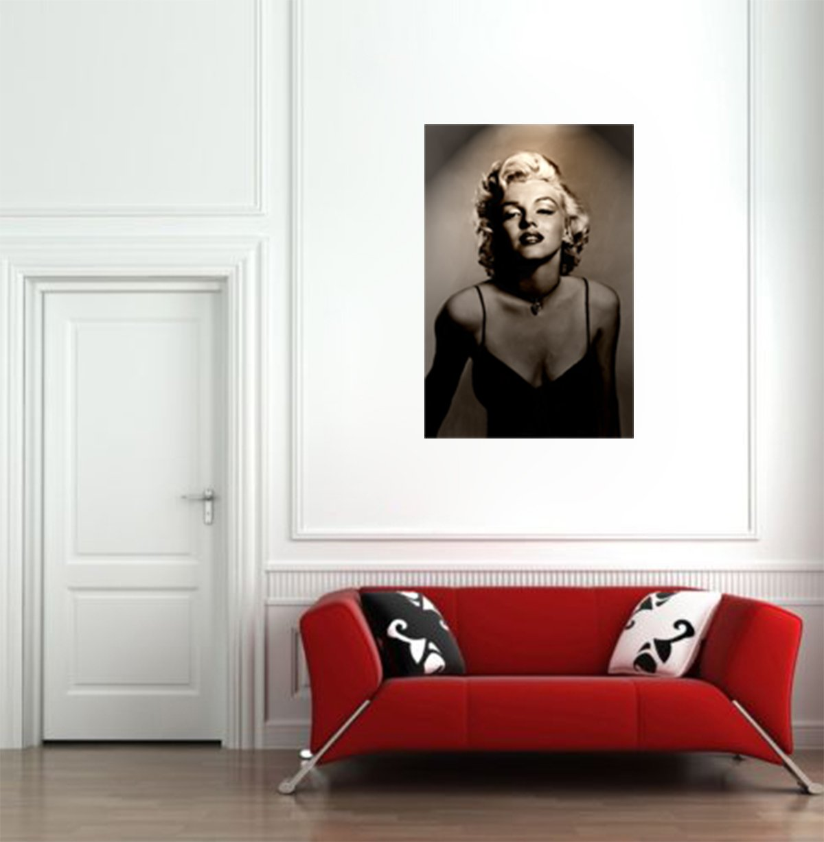 Merveilleux Amazon.com: Marilyn Monroe Vintage Black U0026 White Print On Canvas Giant Wall  Art 24x36: Black And White Wall Art: Posters U0026 Prints