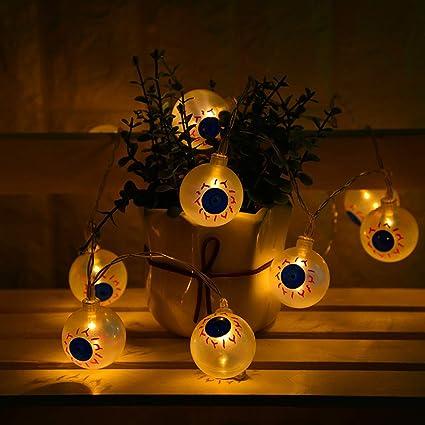 hikel led halloween lightshorror ghost eye shape light string decorative light10 lamps