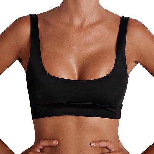 4aa33153f8 Tsmile Women s Vest Summer Tube Crop Top Tank Tops Yoga Sports T-Shirt  Blouse (