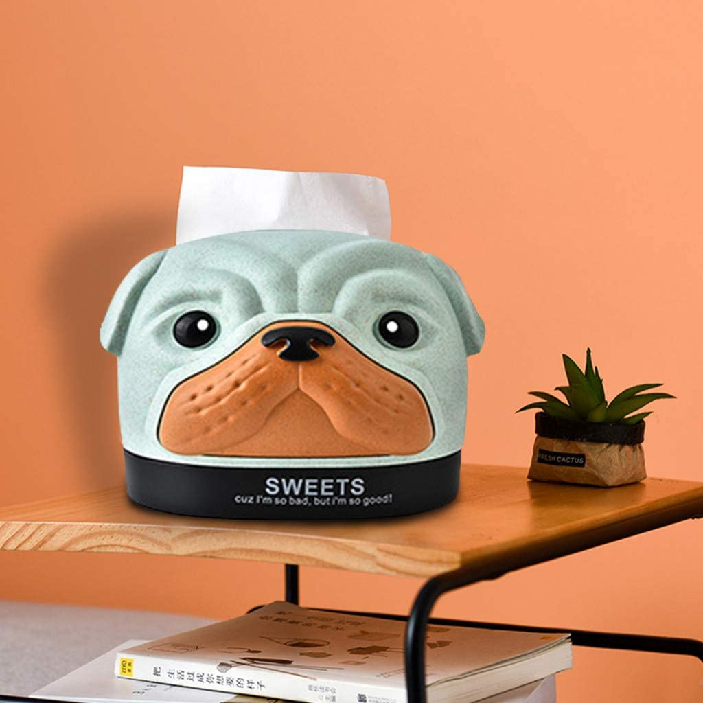 Shaped Paper Tissue Box Dispenser Case Napkin Holder Home Office Decoration Car Accessory Colors STAR-TOP Cute Cartoon ABS Dog Dog-Beige