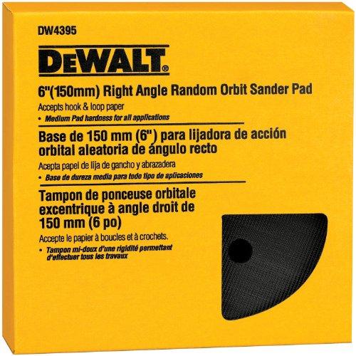 DEWALT DW4395 6- Inch Hook and Loop Pad, Medium (Fits the DW443)