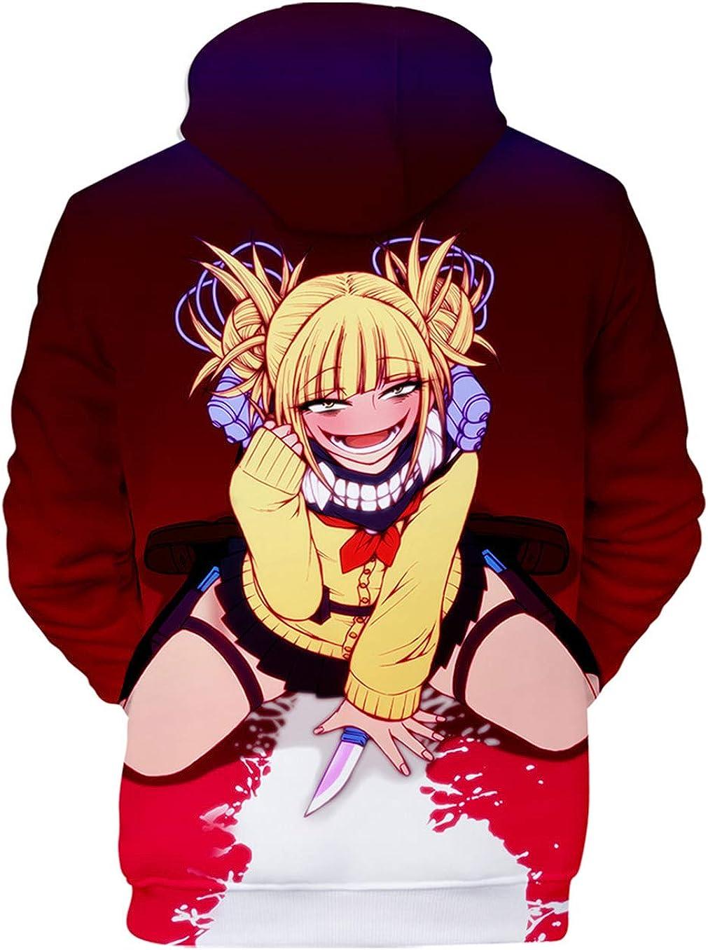 HAOSHENG Femme Homme 3D Sweats /à Capuche My Hero Academia Boku No Hero Academia Manga Cosplay Unisexe Japonais Pullover