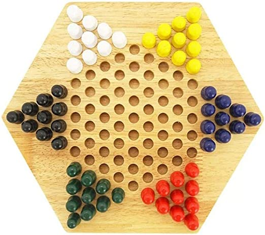 NUOBESTY 1 Caja de Madera Damas Chinas Juego de Mesa Familiar Juego de Estrategia Clásico Juegos de Mesa para Niños Adultos Familia: Amazon.es: Hogar
