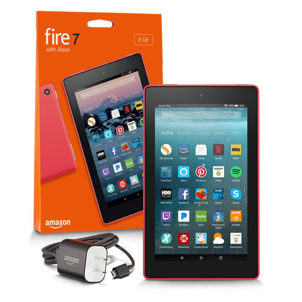 Fire 7 Tablet  (7'' display, 16 GB) - Red - (Previous Generation - 7th) by Amazon (Image #17)