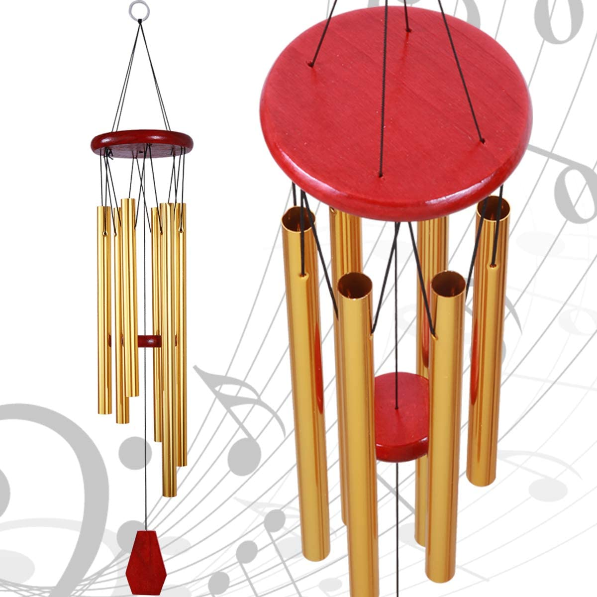 Party Mobile Wind Catcher Romantic Wind-Bell for Home Garden Decoration 24.8 Inches Pure Hand-Made Metal Musical Wind Bells with 6 Bronze Aluminum Tubes Festival Decor xxschy Owl Wind Chimes