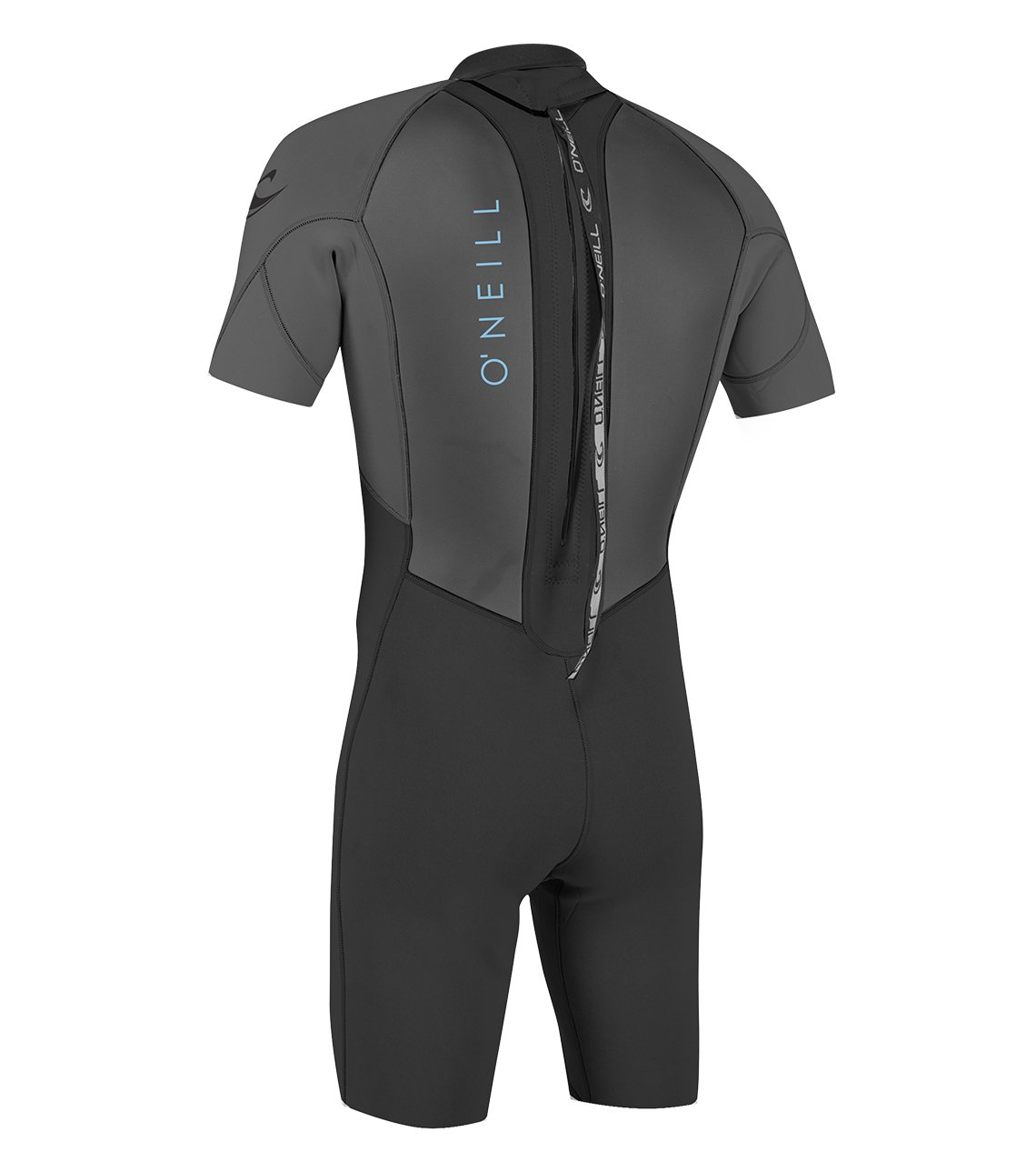 O'Neill Youth Reactor-2 2mm Back Zip Short Sleeve Spring Wetsuit, Black/Graphite, 6 by O'Neill Wetsuits (Image #2)