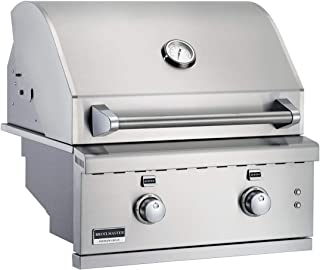 product image for Broilmaster BSG343N 34-in Built-in Natural Gas Grill with 3 Burners, Work Lights, Rear IR Burner, and LED Controls