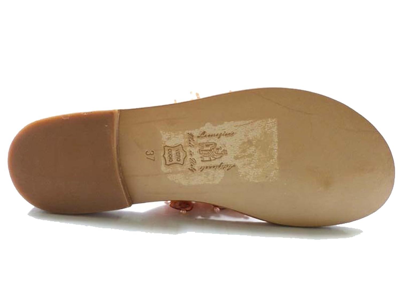 Zapatos Mujer Eddy Daniele 37 Sandalias Naranja Perlas AX840 YDYavhi
