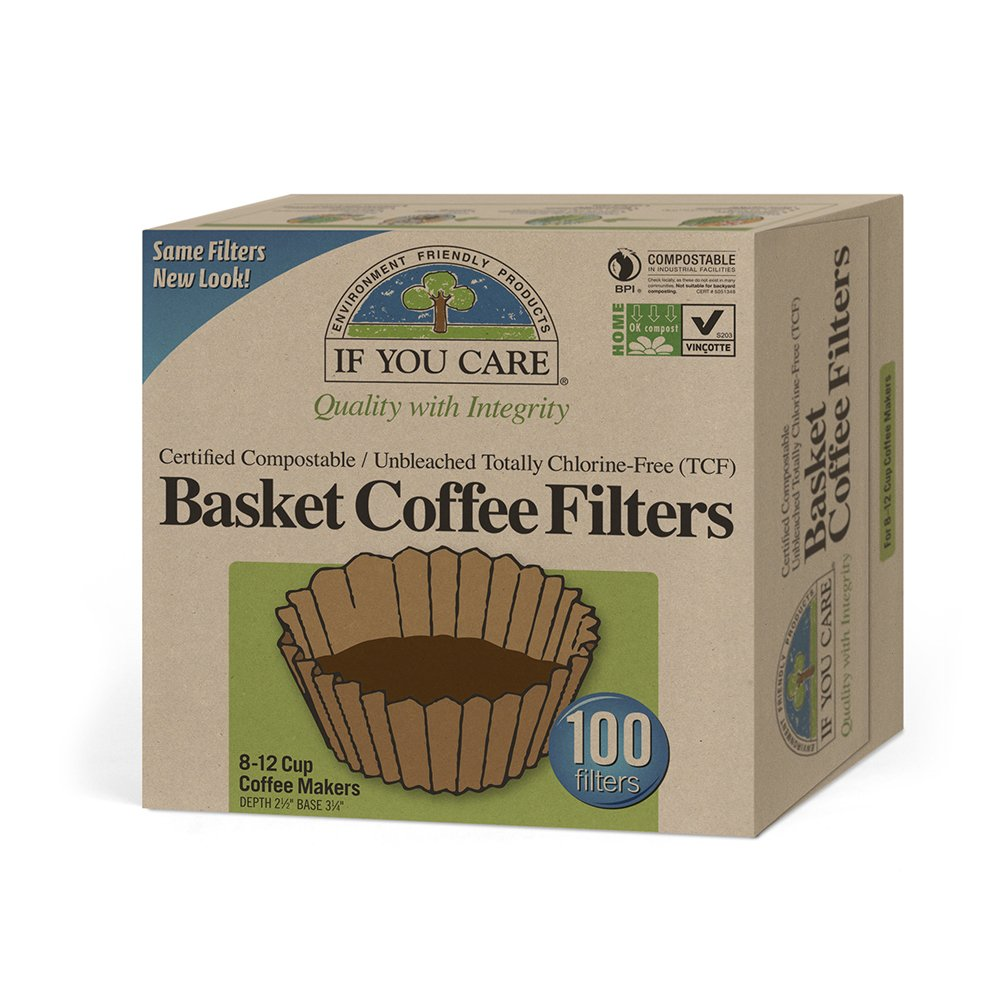 Unbleached Coffee Basket Filters 100 Ct by If You Care CECOMINOD027991