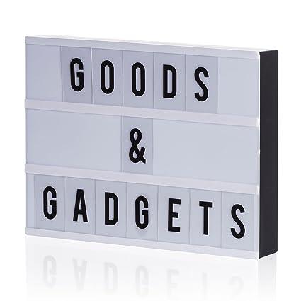 Goods & Gadgets LED Caja de luz Blockbuster Letter Light Box Bombilla Buzón con 204 Flexible