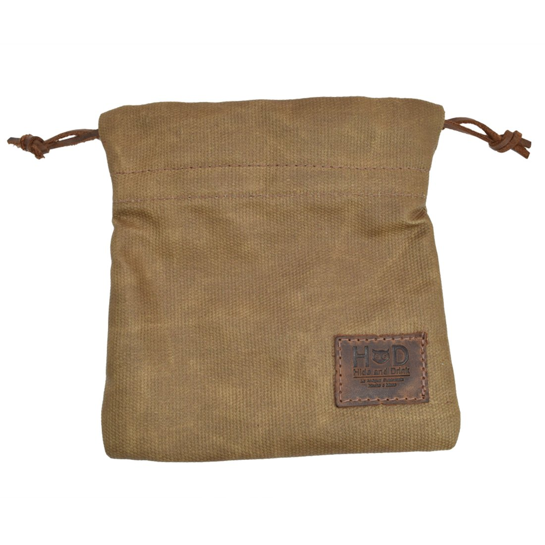 Hide & Drink Waxed Canvas Golf Valuables Field/Travel / Tech/Board Game Dice Pouch Handmade by Fatigue by Hide & Drink (Image #3)
