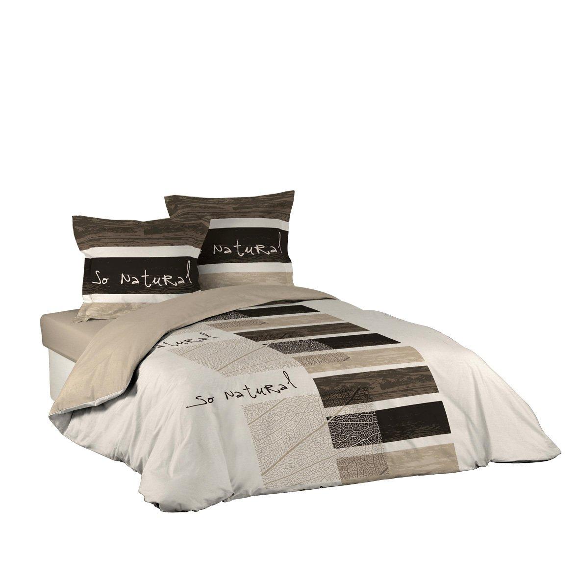 couette naturelle linge de lit Douceur d'Intérieur Parure de Lit 2 personnes Housse de Couette  couette naturelle linge de lit