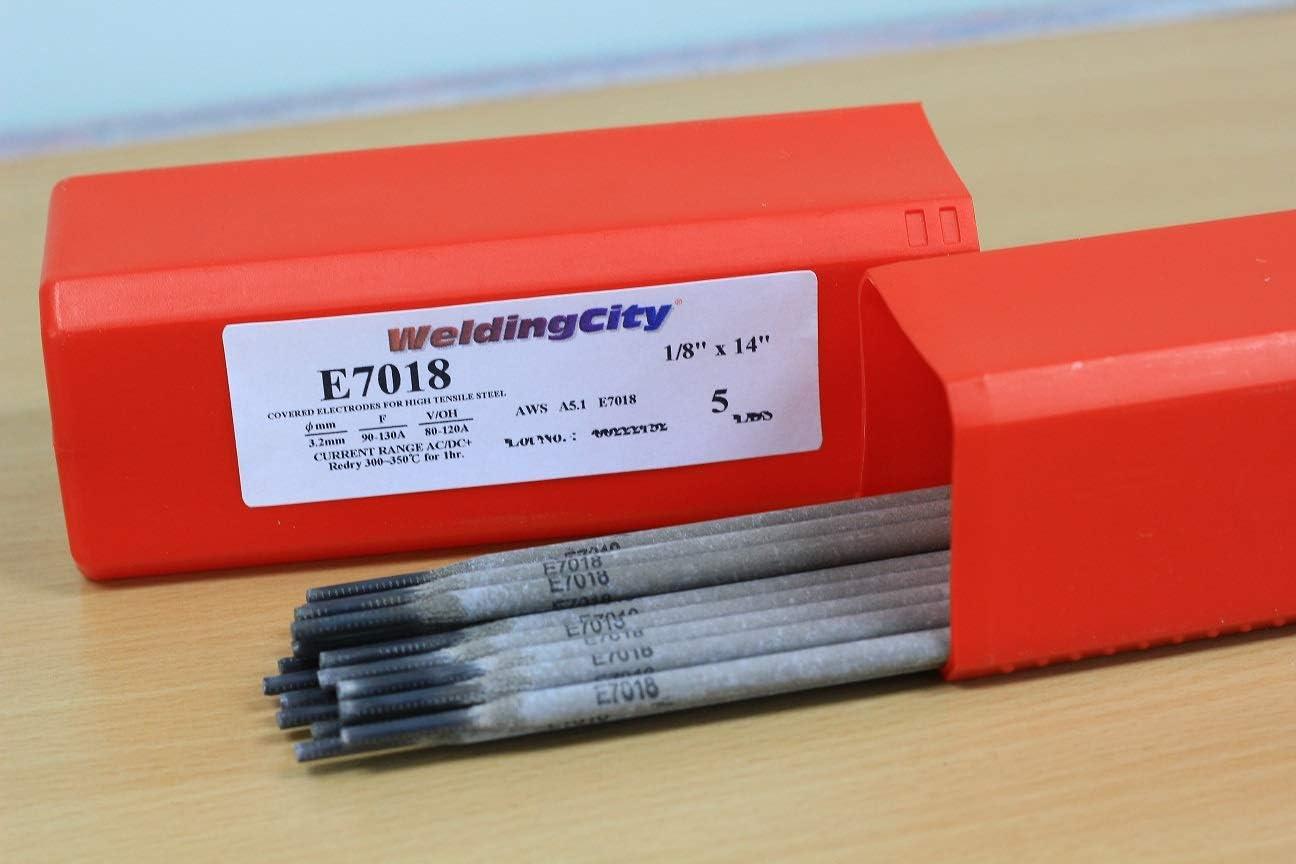 Rods WeldingCity 5-Lb Stick Welding Electrode E7018 1/8 Carbon ...