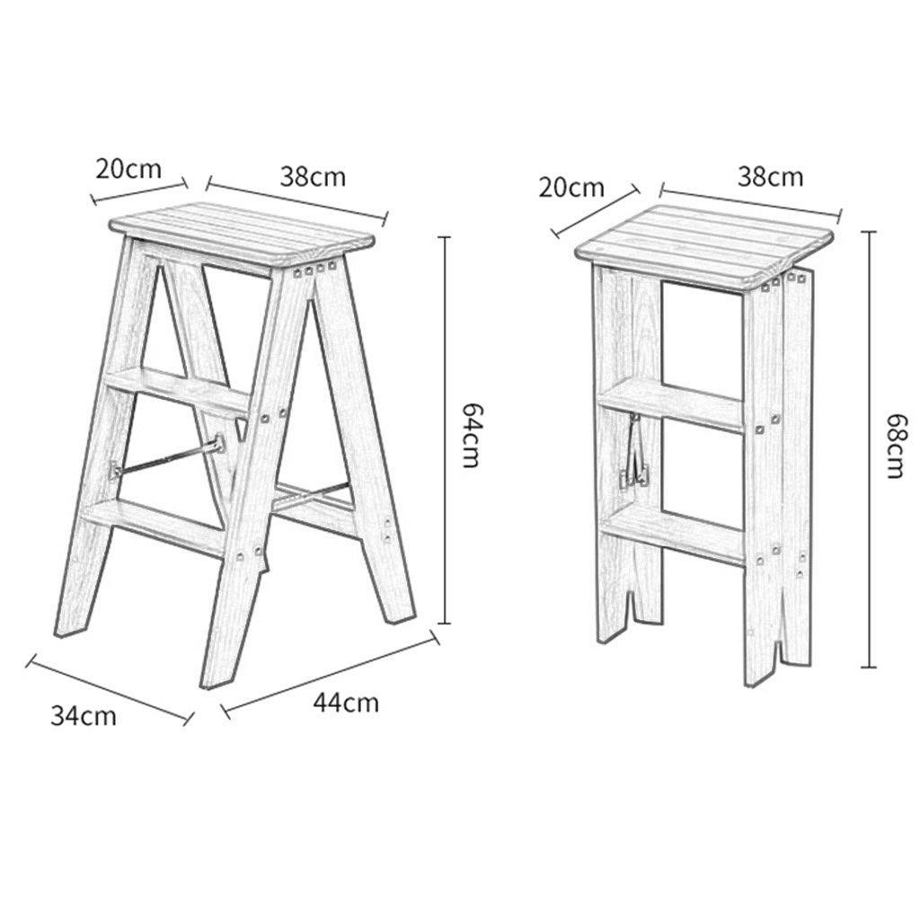 Holzklapptreppe Leiter 4 Stufen Kiefer Stuhle Indoor Dual Use