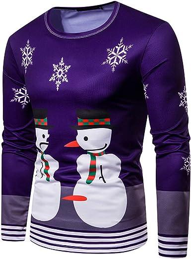 Mr.BaoLong&Miss.GO Suéter Navideño para Hombre Camiseta De ...