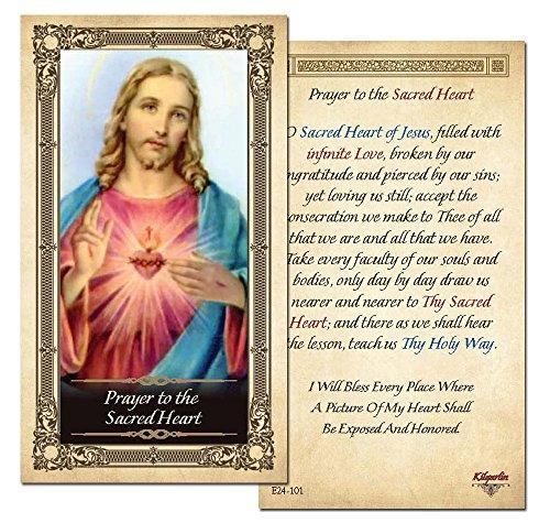 Prayer to the Sacred Heart Prayer Card - Pack of 25