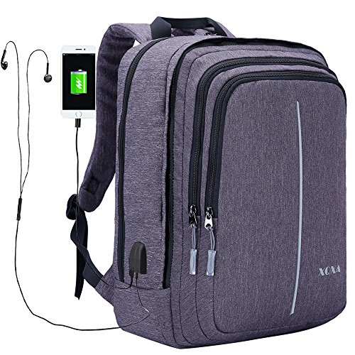Travel Outdoor Computer Backpack Laptop bag 18''(black) - 5