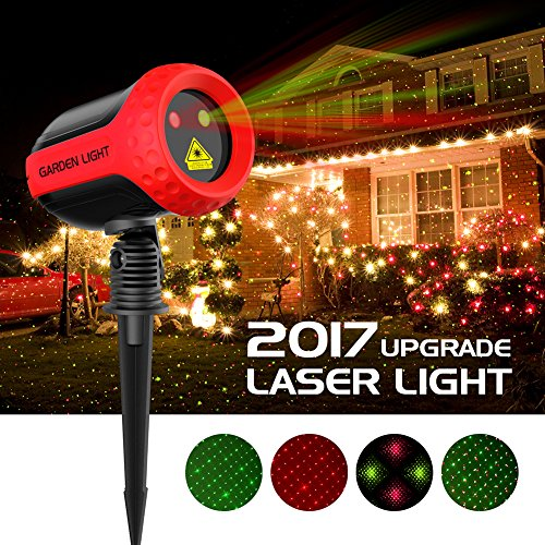 Projector Lights Garden Laser Light - MINO Ant Outdoor Laser Landscape Star Shower Projector Lights with RF Remote for Holiday Party Landscape Graduation Decoration, FDA Approved, All Aluminum by MINO ANT